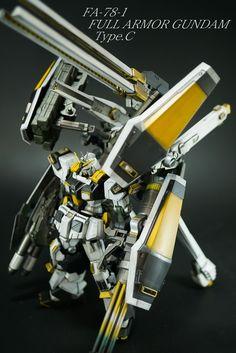フルアーマーガンダム タイプC Gundam Custom Build, Gundam Model, Mobile Suit, Transformers, Drones, Robots, Anime, Design, Armor Concept