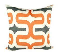 Winter SALE - Premier Prints Embrace Macon Apache Orange Modern Geometric Decorative Throw Pillow- Free Shipping