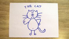 How To Draw A Cat In 60 Seconds? Draw A Cat In 60 Seconds with Funny Socks!