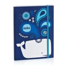 Jonathan Adler Blue Ocean Whale Paper Flexi Journal barnesandnoble.com