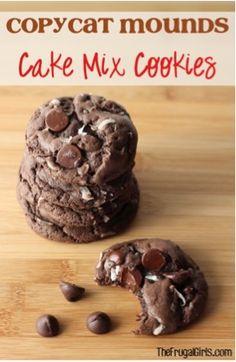 Copycat Mounds Cake Mix Cookies