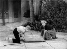 Lucy and Ethel - on a souvenir hunt - this time stealing John Wayne's footprints from outside Grauman's Chinese Theatre. Description from pinterest.com. I searched for this on bing.com/images
