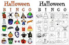 Halloween Bingo Game Cards: Free Halloween Bingo Game Cards to Print