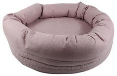 Myspöl i rosa. Avtagbart tyg i naturmaterial av 100 % linne. En älskad plats för de små. Lika snygg i vardagsrummet som i barnens rum.