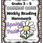 Are you looking for homework resources to assist your Common Core aligned reading instruction? If so, this 27 page spring-themed homework pack is f...