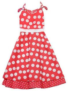 Buy New: $29.95 : Apparel: Rare Editions Girls 7-16 Coral White Polka Dot Cotton Dress