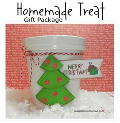 (freebie) Fun ways to package homemade treats/gifts for Neighbors, Family & Friends plus Free tags & tutorial  Christmas gift, dessert, treats