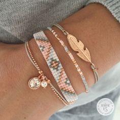 Luxury jewelry This beautiful light gray bracelet set is this week . - Luxury jewelry This beautiful light gray bracelet set is very popular this week. Shop th - Bead Loom Bracelets, Cute Bracelets, Bracelet Set, Fashion Bracelets, Fashion Jewelry, Women Jewelry, Gold Bracelets, Diamond Earrings, Colorful Bracelets