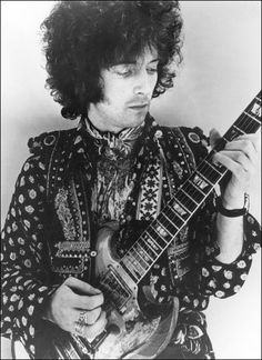 Eric Clapton while in Cream in full on afro and psychedelia mode, which may well explain why he is playing a Gibson SG and not his usual Fender Stratocaster! #ericclapton