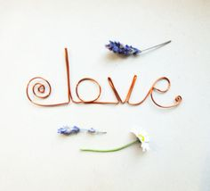 Typography Love Bookmark adorable cute metal wire by KicaBijoux