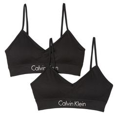 4c91b70c1eb28 Calvin Klein Underwear Horizon Bralette 2 Pack (135 BRL) ❤ liked on Polyvore  featuring intimates
