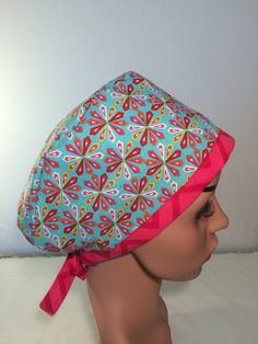 A personal favorite from my Etsy shop https://www.etsy.com/listing/462553986/surgical-scrub-cap-nurse-cap-chemo-cap