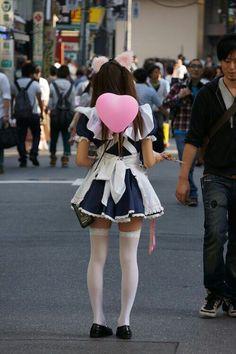 nekomimi tokyo japan cat ears  maid  maid outfit maid costume  maid cafe  street  photography
