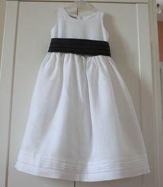 robe de cérémonie, lin blanc
