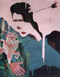 ALEXANDRA LEVASSEUR, CAMOUFLAGE: acrylic and colored pencils.