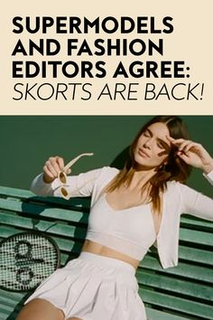This divisive 1990s trend is having a resurgence, and after testing it myself, I'm staunchly pro. #skorts #fashion #summerfashion 1990s Trends, Sports Uniforms, Tennis Skort, Hiking Tips, Skorts, Spanx, City Chic, Black Bodysuit, Fashion Editor