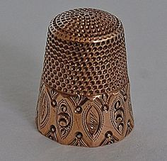 antique 14K gold thimble