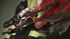 Lady Maria (Bloodborne) by semsei on DeviantArt Bloodborne Art, Digital Drawing, Character Art, Dark Souls Art, Photoshop Cs6, Soul Art, Maria, Digital Artist, Dark Fantasy Art