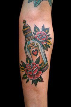 Tattoo-Foto: Flaschenpost