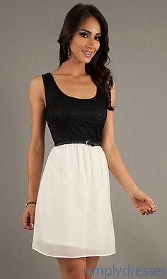 Short Sleeveless Scoop Neck Dress at SimplyDresses.com