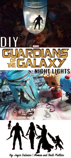 This DIY Guardians of the Galaxy Night Light is easy to make and requires minimal supplies. Celebrate the new film with this Guardians of the Galaxy craft! #GotGVol2