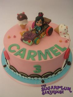Wreck It Ralph - Sugar Rush Themed Cake Sugar Rush, Vanellope Y Ralph, Candy Birthday Cakes, Movie Cakes, Fondant, Wreck It Ralph, Cake Decorating Supplies, Disney Cakes, Party Cakes