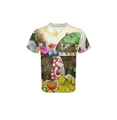 pre-sale t-shirt orders depicting the painting Yoshi Make Eggs. Images originally hand painted in watercolor by one of this shops two operating artists. Made from Cotton, Spandex. Yoshi, Shops, Men Casual, Eggs, Spandex, Hand Painted, Watercolor, Artists, Cotton
