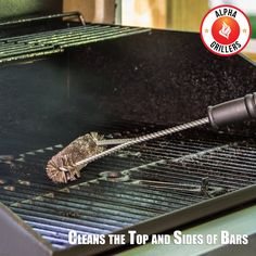 """Amazon.com : Grill Brush 18"""" - Heavy Duty BBQ Tool - Stainless Steel Bristles Far More Durable Than Brass - Safe for Porcelain Enamel Grates - Free Bonus e-Book - Long Wire Handle - One of the Best BBQ Accessories and Tools Around - This BBQ Grill Brush is the Perfect Accessory for Cleaning Charcoal, Gas, Electric and Infrared Outdoor BBQ Grills - Best Grill Brush for a Char Broil or Weber Barbecue - 1 Year Guarantee : Patio, Lawn & Garden"""