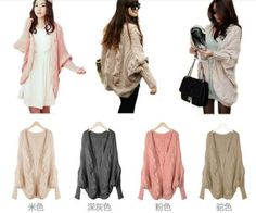 I found some amazing stuff, open it to learn more! Don't wait:https://m.dhgate.com/product/winter-warm-batwing-shell-shape-sweater-korean/142947749.html