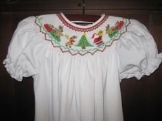 Rosalina Smocked Christmas Santa Reindeer Gift Holiday Dress 18M EUC | eBay