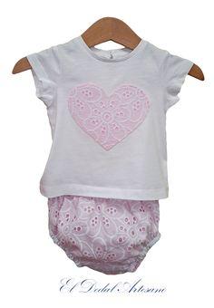 Braguita y camiseta bebé con aplicación