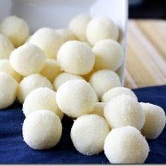 These White Chocolate Lemon Truffles make an elegant dessert!