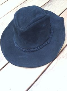 Minnetonka Black Suede hat on Etsy, $30.00