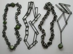 Jason Hall necklaces  - (pounamu, oxidised sterling silver) - Fingers Annual Contemporary New Zealand Jewellery Exhibition 2006