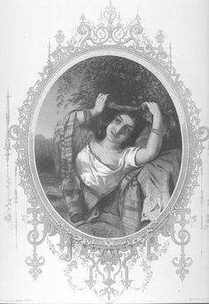 EXOTIC BEAUTY East Indian Maiden 1800s Victorian Brunette Victorian Woman Vintage Antique Steel Plate Engraving Art Print 1800s [inv BeaU 45 on Etsy, $24.00