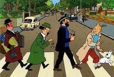 ♠ détournement pochette Abbey road