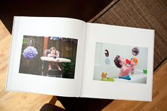 "Great way to document a year — ""Saturdays with Maggie"" Photobook. Take a picture of your kid every Saturday and make a Photobook at the end of the year with date stamps and descriptions."