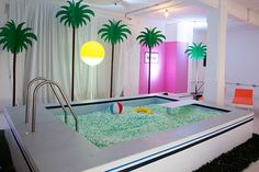 Vaporwave Room: Isabel and Helen: No Diving for the vitamin water Shinebright Studio Kids Indoor Playground, Kindergarten Design, Cool Pools, Dream Rooms, My New Room, Retail Design, Play Houses, Store Design, Playroom