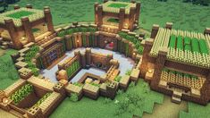Minecraft Houses Survival, Minecraft Building Guide, Minecraft Farm, Cute Minecraft Houses, Minecraft House Tutorials, Minecraft Plans, Amazing Minecraft, Minecraft House Designs, Minecraft Blueprints