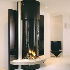 High Class See Through Fireplace Designs: Luxury See Through Fireplace Designs Furniture Interior Contemporary Bioethanol Fireplaces Modus Design In Black Themed Colors Decoration Ideas ~ wiligear.com Fireplace Inspiration