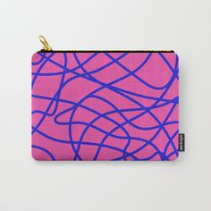 Connections Illustrated Carry-All Pouch by mky Organize Your Life, Wraparound, Pouches, Art Supplies, Carry On, Ipad, Exterior, Canvas, Makeup