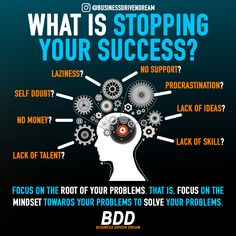 Negative traits along with bad habits can and will stop your success. Audit yourself and your mindset. Focus on the mindset toward your problems and fix it to solve your problems. Business Motivation, Study Motivation, Business Quotes, Business Money, Online Business, Business Tips, Self Development, Personal Development, Make Money Online