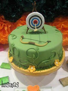 No flowers, make it more boyish, square cake with little man shooting arrow! ✅✔️☑️