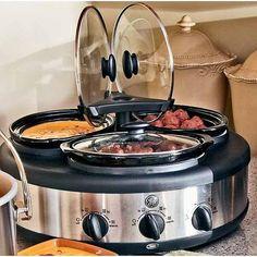 new chefman 2 5 quart triple slow cooker buffet ebay kitchen appliances pinterest buffet triple slow cooker and confidence