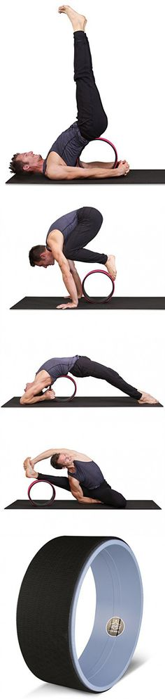 """SukhaMat Yoga Wheel Prop - Strong / Sturdy Premium 12.5"""" Back Roller and Stretcher with Thick Cushion for Comfortable Backbends and Deeper Postures - Includes Pose Guide and Online Instructional Video"""