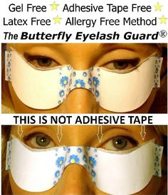 Butterfly Eyelash Guard. How to: Eye Makeup, Lash Extensions