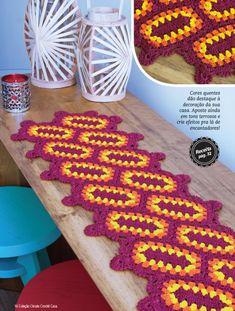 Imagem14 Crochet Mat, Crochet Ripple, Form Crochet, Crochet Home, Thread Crochet, Crochet Tablecloth, Crochet Doilies, Weaving Patterns, Crochet Flowers