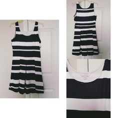 Stripe Dress Worn once. Great condition & good fit. Charming Charlie Dresses Midi