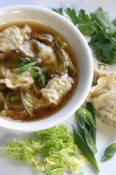 Chicken Wonton Soup. Quick, easy dinner. I substituted baby bella mushrooms (for shiitakes) and spinach (for cabbage)