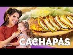 CACHAPAS | PANQUECAS DE MAIZ DULCE - Jacquie Marquez - YouTube Venezuelan Food, Venezuelan Recipes, Crepes, Latin Food, Puerto Ricans, Relleno, Kids Meals, Hamburger, Lunch